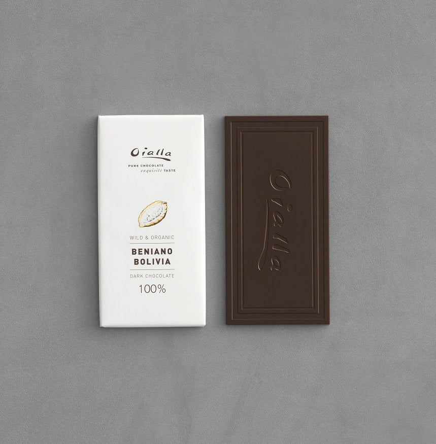 100% organic dark chocolate, 60g bar