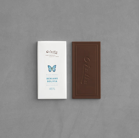 46% organic milk chocolate, 60g bar