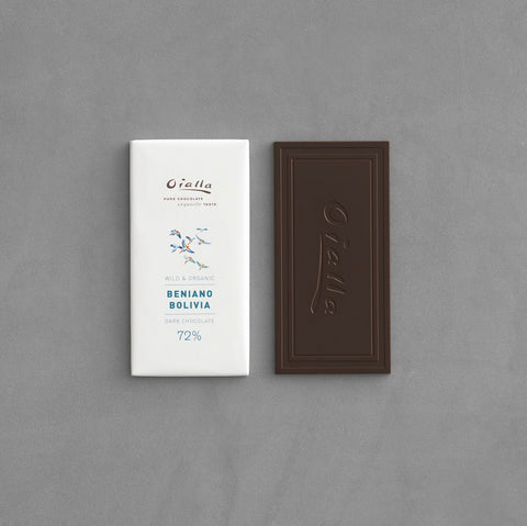72% organic dark chocolate, 60g bar