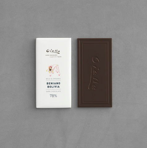 78% organic dark chocolate, 60g bar