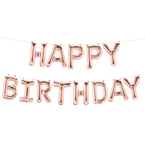 Set HAPPY BIRTHDAY letras de 40 cm Oro Rosa