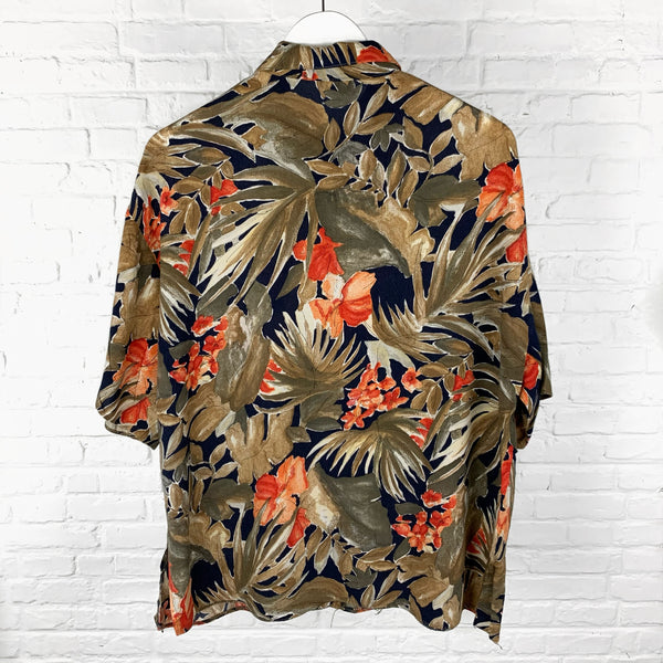 Floral Patterned Short Sleeve Shirt