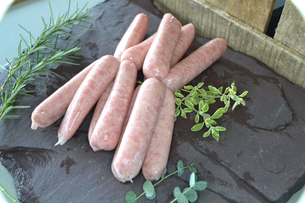 Free Range Thin Pork Sausages (pack of 12)