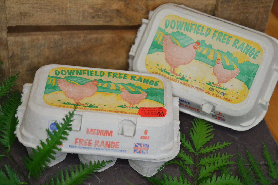 Free Range Eggs (Downfield) 1/2 Dozen Medium