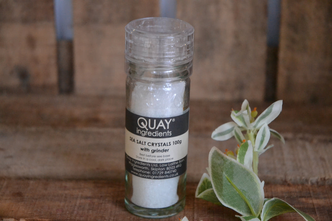 Quay Sea Salt Crystals with Grinder 40gm