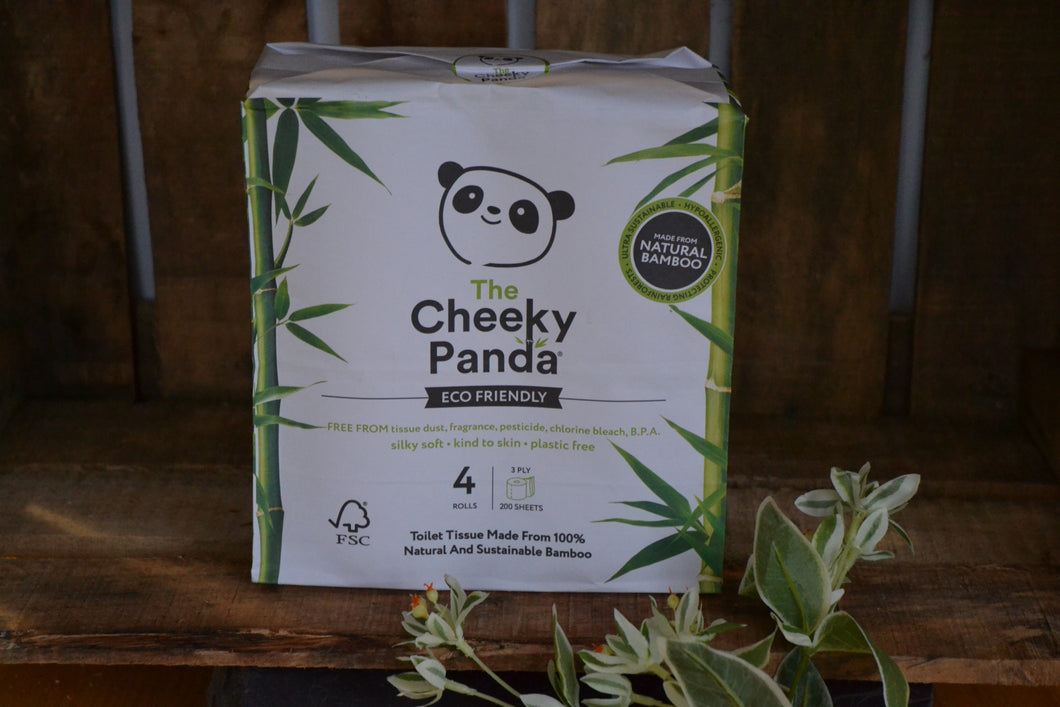 The Cheeky Panda Eco Friendly Toilet Paper 4 Rolls