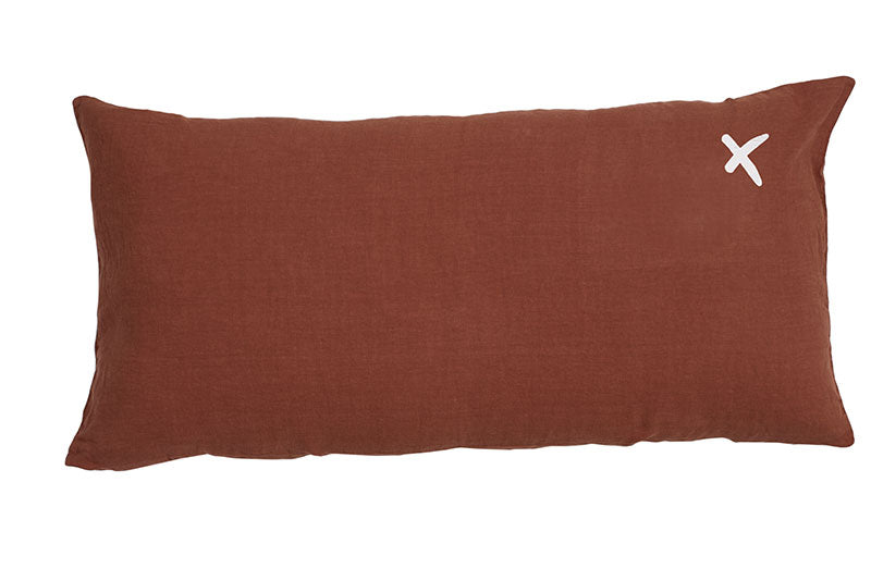Gros Coussin Rectangle en Lin LOVERS 55X110