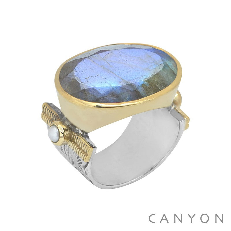 Bague GAELLE Labradorite Canyon