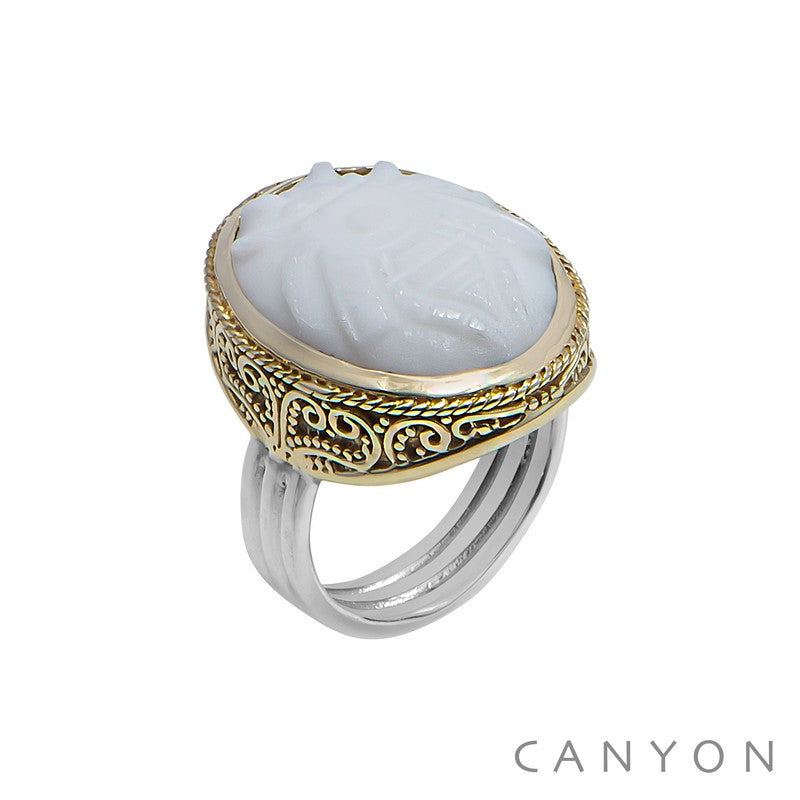 Bague SEV abeille blanche Canyon