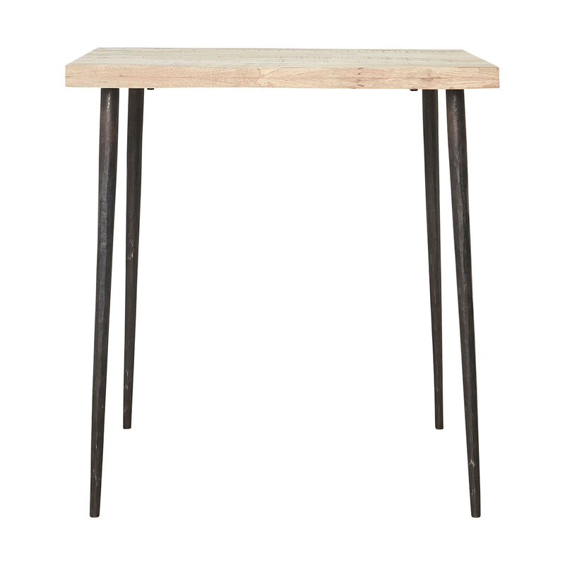 Table manguier et métal - Slated - 70x70 h.76 cm