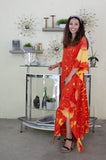 Orange Tie Dye Caftan