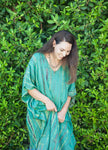 Green Yellow Tie Dye Caftan