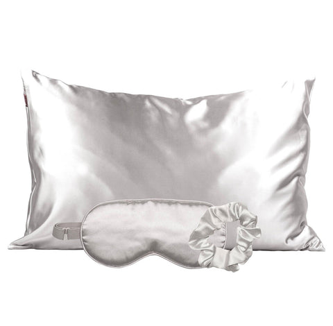 Silver Satin Sleep Set