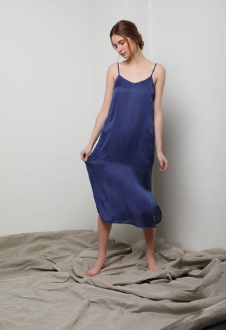 Easy Slip Dress - Lapis Blue