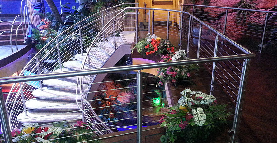 mango's tropical cafe stainless steel railing