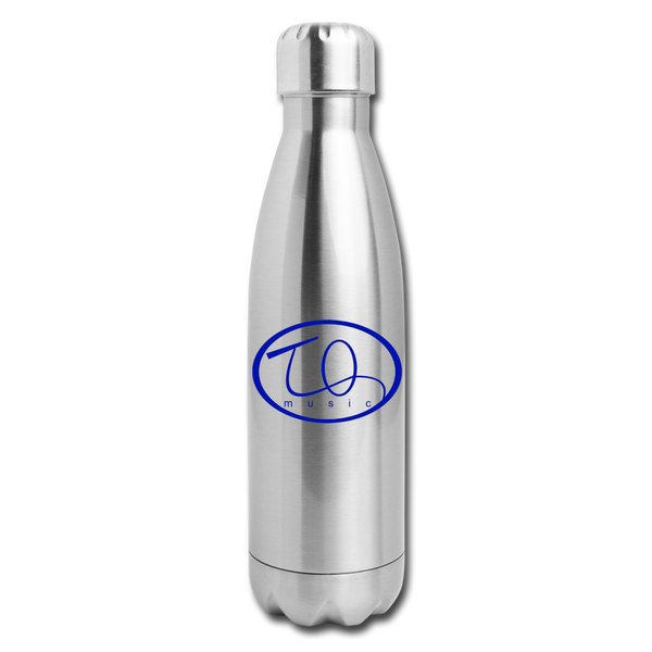TQ Music Logo Insulated Stainless Steel Water Bottle - silver