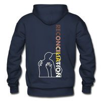 Reconciliation Hoodie - (light print) - navy