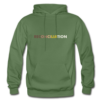 Reconciliation Hoodie - (light print) - military green