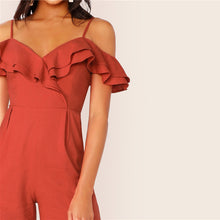 Load image into Gallery viewer, Palazzo Ruffle Jumpsuit