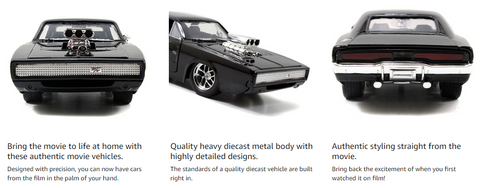 Fast & Furious 1:24 Dom's 1970 Dodge Charger Die-cast Car