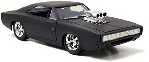 Fast & Furious Dom's 1970 Dodge Charger Matt Black 1:24 DieCast