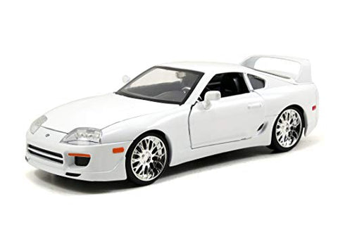 Jada Toys Fast & Furious 1:24 Brian's Toyota Supra Die-cast Car White, Toys for Kids and Adults (97375)