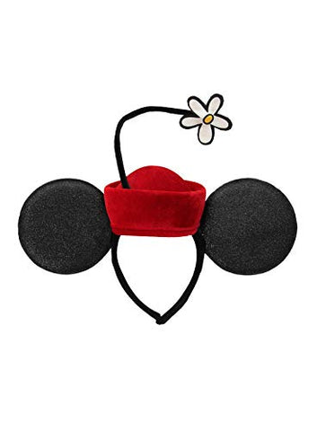 Minnie Ears Vintage Flower Hat Headband Red