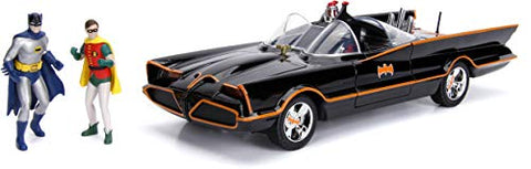"Classic TV Series 3"" Batman & Robin and Batmobile 1:18 DieCast"