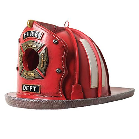 Firefighter Bird House Vintage Helmet