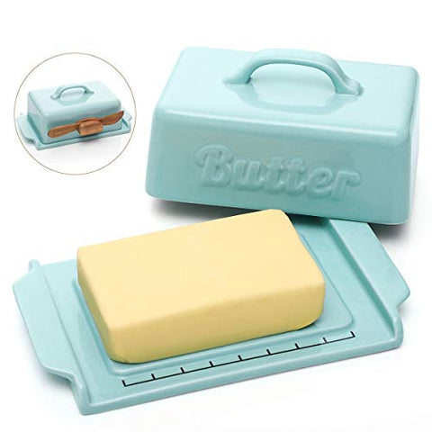 Retro Look Butter Dish with Lid