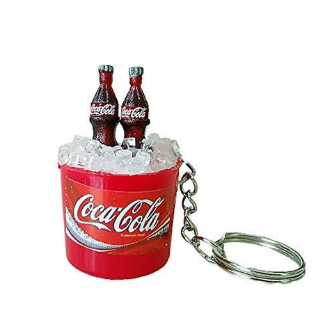 3 Pack Mini Cola Cola Ice Bucket Keychain - UniqueVintages