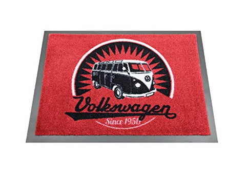 Retro Volkswagen Samba Bus Door Mat