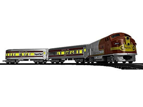 Lionel Santa Fe Diesel Battery-powered Model Train Set - UniqueVintages
