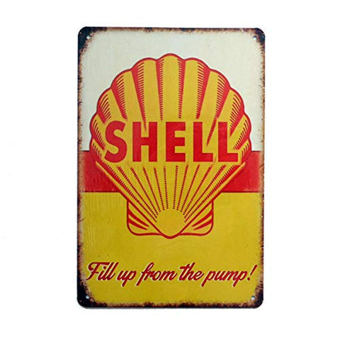 Vintage Shell Motor Oil Gasoline Sign
