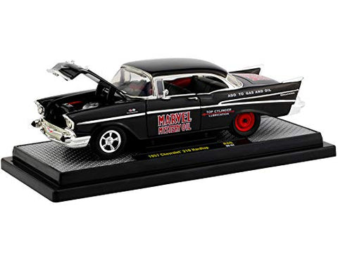 1957 Chevrolet 210 Hardtop Marvel Mystery Oil Black Limited Edition 1:24 DieCast