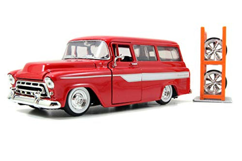 1957 Chevrolet Suburban with Rack/Tires 1:24 DieCast