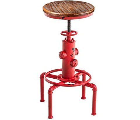 Vintage Water Pipe Fire Hydrant Barstool