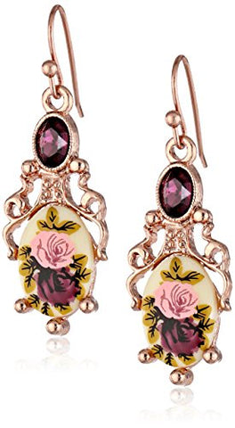 Vintage Manor House Filigree Drop Earrings
