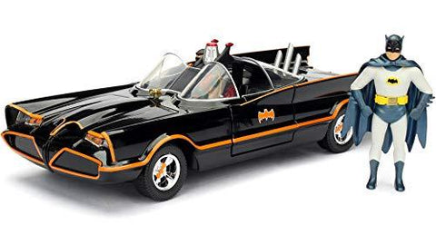 1966 Classic Batmobile with Batman and Robin 1:24 DieCast - UniqueVintages