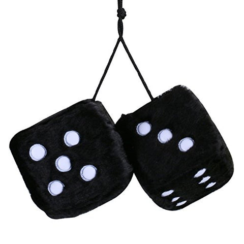 Pair of Vintage Retro Square Mirror Hanging Dice