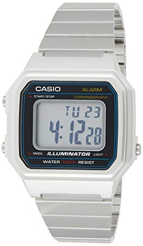 Casio Classic Quartz Watch Silver Stainless-Steel Strap B650WD-1ACF