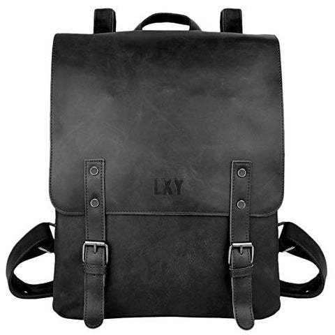 Vegan Leather Backpack Vintage Laptop