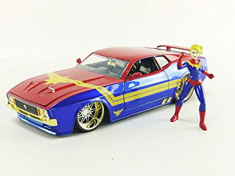 Captain Marvel & 1973 Ford Mustang Mach 1 1:24 DieCast - UniqueVintages