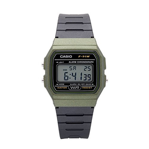 Casio Classic Quartz Watch Green/Black F-91WM-3ACF