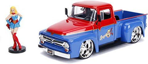Supergirl & 1956 Ford F100 1:24 DieCast - UniqueVintages