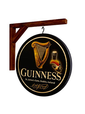 "Guinness Double Sided Wood 12"" Pub Sign"