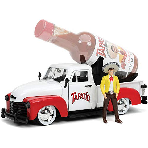 Tapatio Salsa 1953 Chevy Pick Up & Charro Man 1:24 DieCast