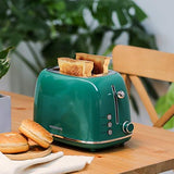 2 Slice Retro Stainless Steel Toaster - UniqueVintages