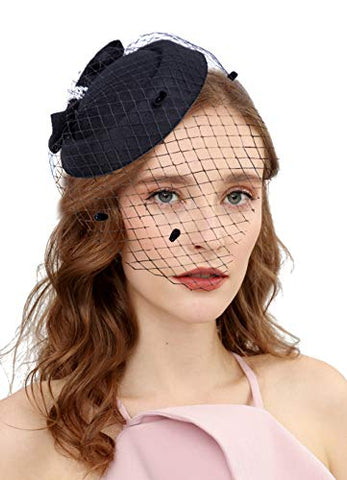 Fascinators Retro 20s Hat Pillbox - UniqueVintages