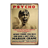 Movie Psycho Vintage Metal Sign - UniqueVintages